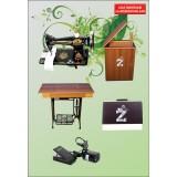 Zetina Ayaklı Kabinli Çantalı Aile Dikiş Makinesi